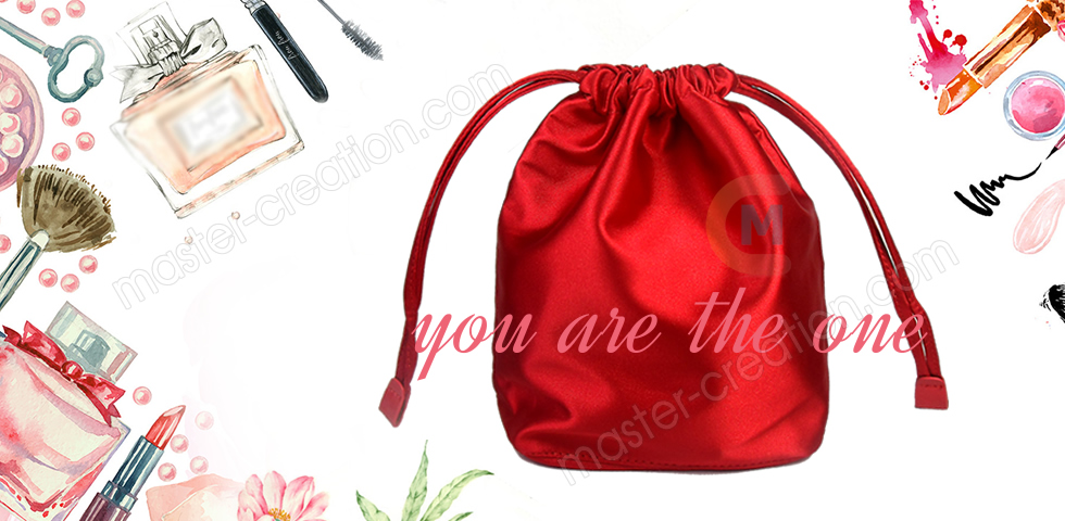 Red drawstring pouch