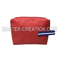 red cosmetic purse