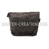 plush cosmetic bag