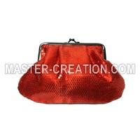 red sequin bag