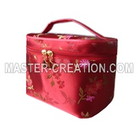red toiletry case