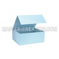 blue flap box